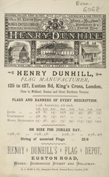 Advert For Henry Dunhill, Flag Manufacturer